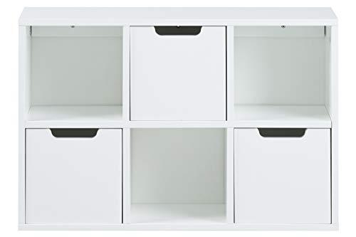 AC Design Furniture Regal Mariela, B: 58 x T:18 x H: 39 cm, MDF, Weiss