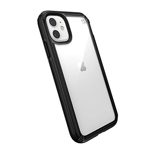 Speck Products Presidio V-Grip iPhone 11 Case, Clear/Black