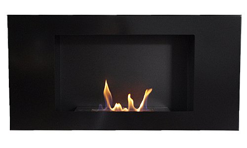 New Fireplace VALENCIA DELUXE Black Bio Ethanol Gel + 1 Adjustable Firebox