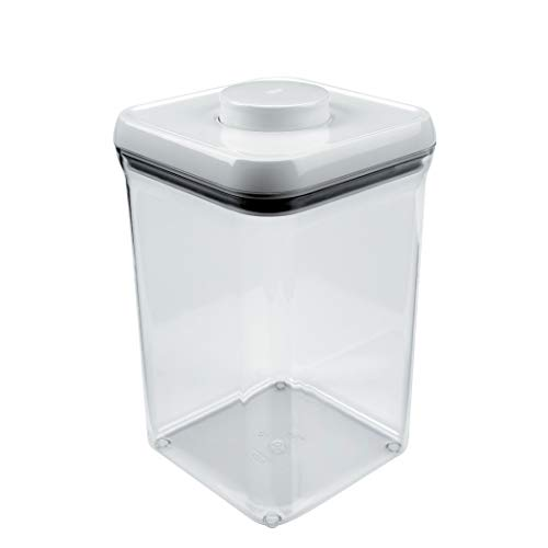 OXO 1071396 4.0 quart square Pop Container, 4 Qt - Flour