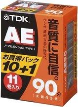 TDK オーディオカセットテープ AE 90分11巻パック AE-90X11G