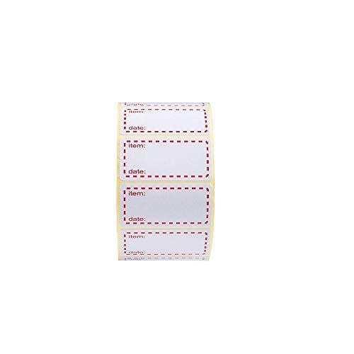 Palucart Etichette su Rotolo per congelatore 500 Etichette 50 x 25 Etichette per Alimenti...