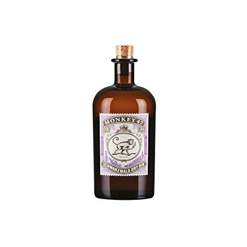 Monkey 47 Schwarzwald Dry Gin & Harmonischer Gin mit Wacholderaroma & frischen Zitronen- und Fruchtnoten & Schwarzwälder Handwerk, 500ml