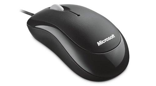 Microsoft Basic Optical Mouse - Ratón óptico (800 DPI, USB), negro