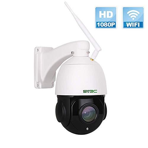 1080p PTZ Telecamera IP Esterno SV3C, Telecamera di Sicurezza Con ZOOM OTTICO 20X, Rilevazione Movimento, 60m Visione Notturna, Audio Bidirezionale, IP66 Impermeabile