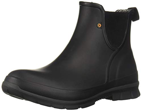 BOGS Women's Amanda Slip On Waterproof Rain Boot, Black, 11
