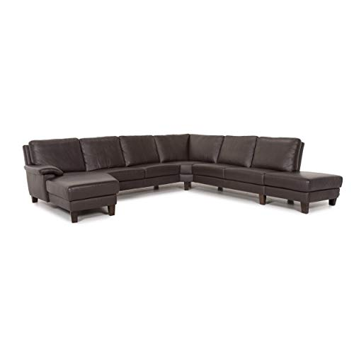 Willi Schillig leather corner sofa brown dark brown sofa couch