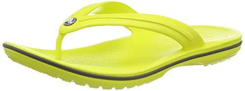Crocs Crocband Flip, Scarpe da Spiaggia e Piscina Unisex Adulto, Giallo (Citrus/Slate Grey 000),...