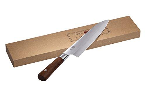 cuocoo Deba Kochmesser mit japanischem Schliff, 21 cm Klinge I Deba Knife/Hack- und Wiegemesser - mit Holzgriff zum Schneiden von Gemüse, Fleisch und Fisch