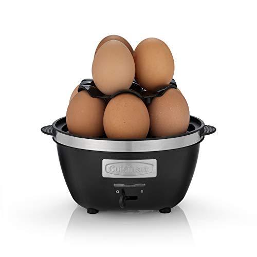 Cuisinart CEC10E Cuiseur à œufs (de 1 à 10 œufs), Œufs durs, mollets, coques et moulés, Acier brossé