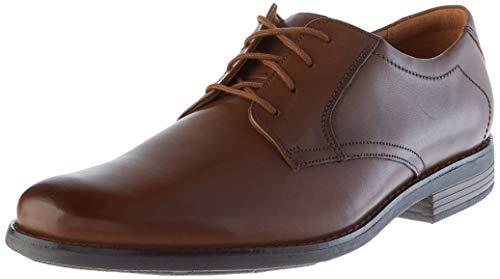 Clarks Becken Lace, Zapatos de Cordones Brogue Hombre, Marrón (Dark Brown Leather), 46 EU