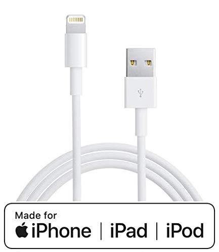 Digitalia Cavo per iPhone iPad ORIGINALE con Connettore Lightnin a USB [Certificato AppleMFI] Cavo per sincronizzazione Dati e Ricarica per iPhone iPad compatibile (Cavetto 100 cm) PRODOTTO ORIGINALE