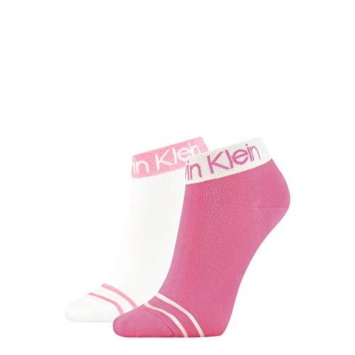 Calvin Klein Short SOS Legwear Logo Zoey Socks Calzini, Combo Rosa, Taglia Unica Donna