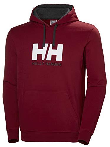Helly Hansen HH Logo Hoodie Sudadera con Capucha, Hombre, Oxblood, M