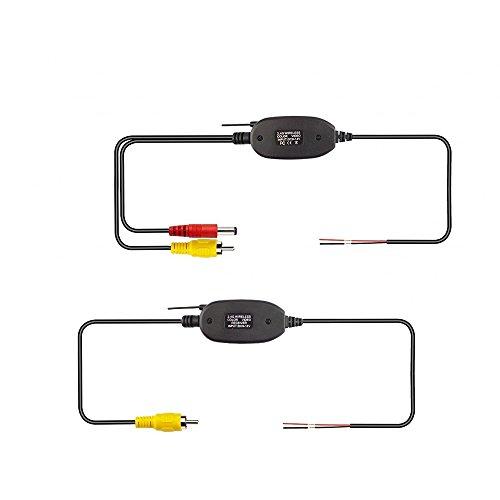 MiCarBa 2.4G wireless video trasmettitore e kit ricevitore per la macchina fotografica anteriore dell'automobile CAM Dash CAM retroilluminazione di retrovisione dell'automobile (CL2.4G)