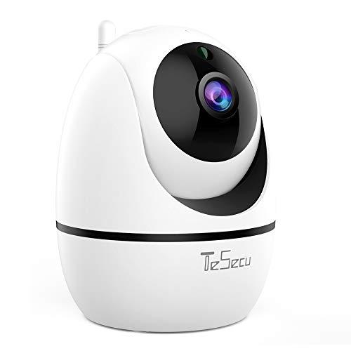 WLAN IP Kamera, 1080P FHD WiFi Überwachungskamera mit Bewegungserkennung und Nachtsicht, 360 ° Bewegungserkennung Innen Monitor mit KI-Funktionen