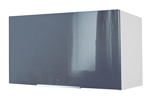 Berlenus CP6HG - Mobiletto da Cucina a Parete sopra Cappa, 60 cm, Colore: Grigio Brillante