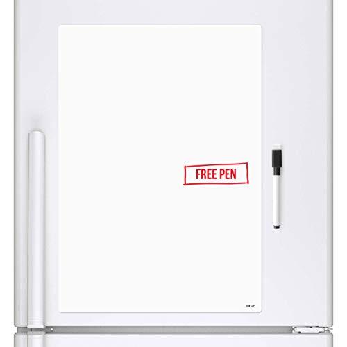 CKB Ltd, A4, Magnetico cancellabile a Secco, Foglio di Lavagna Magnetica da frigo Signage con...