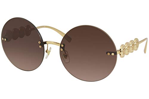 315IA Rd7rL Brand: Versace Model: 2214 Style: Fashion Round Frame/Temple Color: Pink Gold - 1412/5M Lens Color: Pink/Grey Gradient Size: Lens-59 Bridge-18 B-Vertical Height-59 ED-Effective Diameter-59 Temple-135mm Gender: Women's 1-Year Manufacturer Warranty Frame Material: Metal Geofit: Global