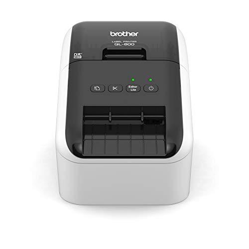 Brother QL-800 Etikettendrucker (mit Rot-Schwarz-Druckfunktion, USB-Schnittstelle, Barcodedruck, automatische Schneideeinheit)