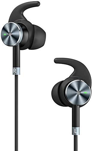 Wired Earbuds, TaoTronics Noise Cancelling Earbud in-Ear Headphones Premium Stereo Headphone Earbuds Built-in Mic 15 Hours Playtime Black (Electronics)