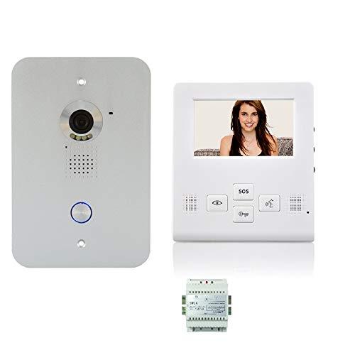 4 Zoll LCD Monitor Türsprechanlage Video Gegensprechanlage