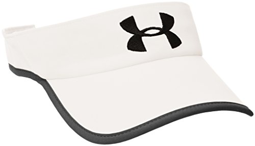 Under Armour Men's 2.0 Shadow Visor, White /Black, One Size Fits All