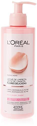 L'Oreal Paris Dermo Expertise Flores Delicadas Leche de Limpieza Piel Sensible, Normal A Seca - 1 Unidad