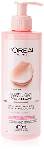 L'Oreal Paris Dermo Expertise Flores Delicadas Leche de Limpieza Piel Sensible, Normal a...
