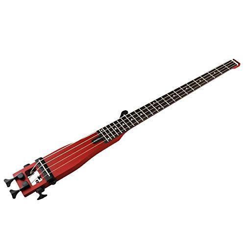 anygig chitarra basso acustica Rosso 4Corde 24tasti con custodia per chitarra jazz Musica