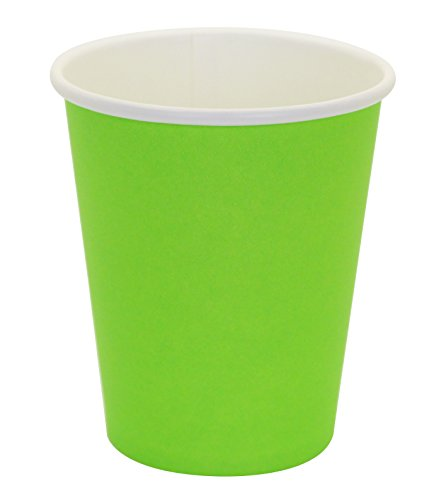 Hot Party Paper Cups, 8 Ounce, 50 Count, Multiple Colors (Green)