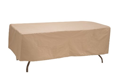 Protective Covers Weatherproof Table Cover, 60 Inch x 66 Inch , Oval/Rectangle Table, Tan - 1152-TN