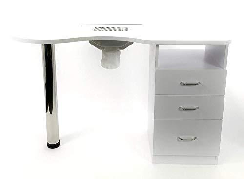 Tavolo per manicure per unghie con ASPIRATORE elettrico 3 cassetti nail set ricostruzione tavolino...