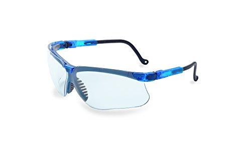 Uvex by Honeywell Genesis Safety Glasses with Uvextreme Anti-Fog Coating, Vapor Blue Frame