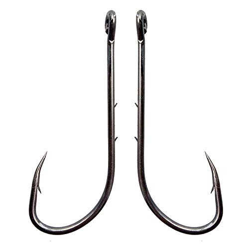 Baitholder Fishing Hooks Long Shank Beak Baitholder Hooks 100Pcs Black Offset Bait Holder Jig...