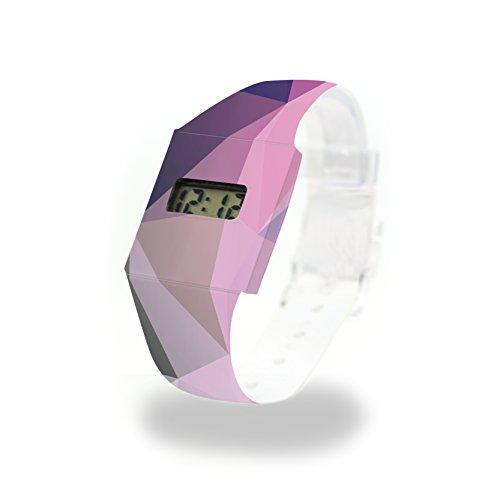 STELLA - Pappwatch - Paperwatch - Digitale Armbanduhr im trendigen Design - aus absolut reissfestem und wasserabweisenden Tyvek® - Made in Germany , absolut reißfest und wasserabweisend