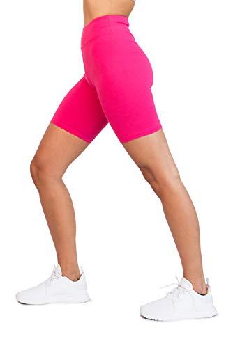 OCOMMO Biker Shorts for Women Waist 3 Inch Thigh Saver Shorts for...