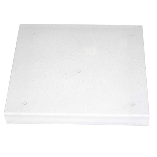 Acrylic Plastic Products Counter Protector with Lip, 15-Inch by 15-Inch