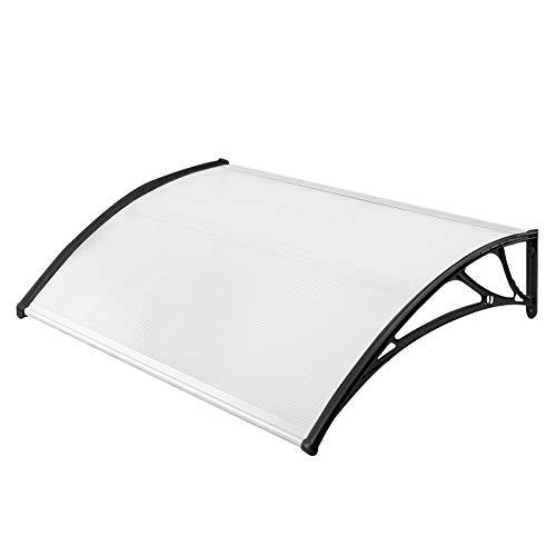 UISEBRT - Colgadizo para puerta de casa, policarbonato transparente, 5 mm