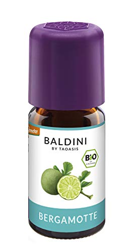 Baldini - Bergamotteöl BIO, 100% naturreines ätherisches BIO Bergamotte Öl, Bio Aroma, 5 ml