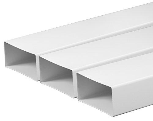 Tubo di ventilazione ventilazione canali 75X 150mm lunghezza 0,5m in plastica Canale piatto Canale...