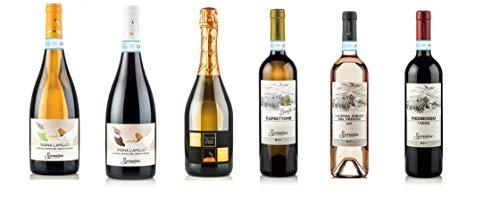 Set Bottiglie di Vino Sorrentino Vesuvio 6 bt x 0,750 l - Sorrentino Vesuvio - Lacryma Christi - Caprettone Benita31 bianco biologico DOC del Vesuvio Vigna Lapillo - Piedirosso 7 Moggi DOC biologico;