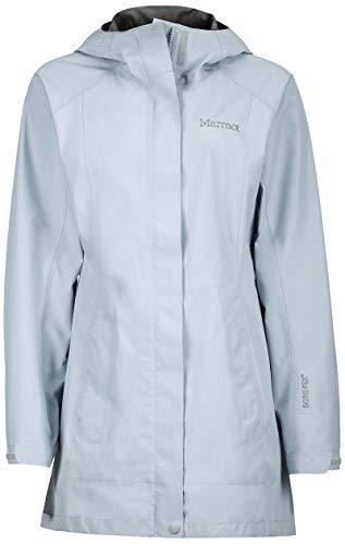 Marmot Women's Essential Lightweight Waterproof Rain Jacket, GORE-TEX with PACLITE Technology, Silver, Medium