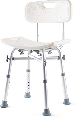Dr. Kay's Adjustable Height Bath and Shower Chair Shower Bench with Backrest