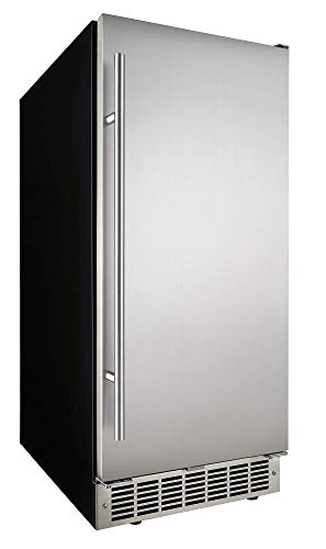 Danby 32lb Stainless Steel Built-In Ice Maker DIM32D1BSSPR (Renewed)
