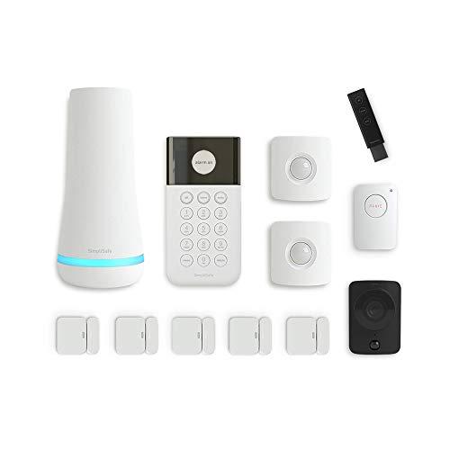 SimpliSafe 12 Piece Wireless Home Security System w/HD Camera -...