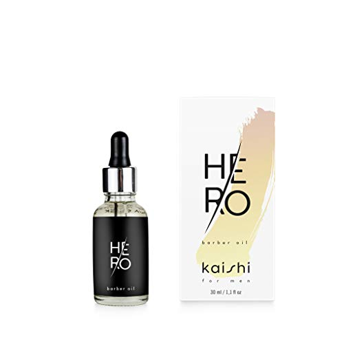Kaishi - Aceite para la barba HEro con extracto de apio y efecto antiprurito, 30 ml