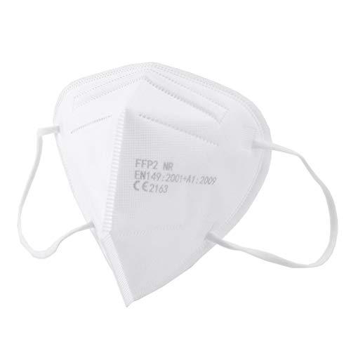 25 Mascherine FFP3 Certificate CE, Mascherina 5 Strati Senza Valvola, Maschera Facciale Protezione da Polvere e Antiparticolato, Face Mask Protettiva con Alta Efficienza di Filtraggio BFE≥98, 25 Pezzi