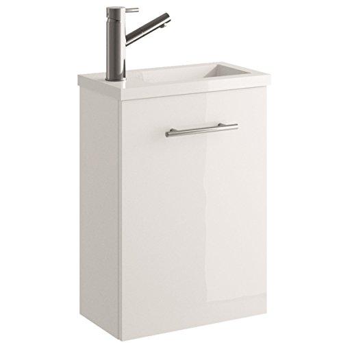 Cygnus Bath Mini Mueble lavamanos de baño, suspendido, con