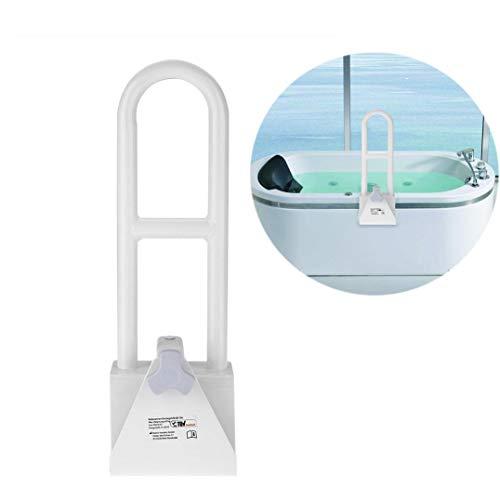 Badewannen-Einstiegshilfe verstellbar Sicherheitsgriff Wannengriff Haltegriff Badewannengriff Wanneneintrittshilfe Badewanneneinstiegshilfe weiß, Geeignet für 9 ~ 16 cm Dicke der Badewanne, 50*19 cm